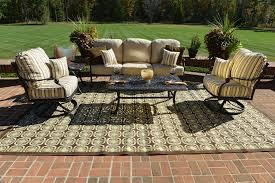 serena 5 piece luxury cast aluminum patio furniture deep seating set w swivel chairs