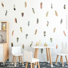 feather room decor tribal wall decal
