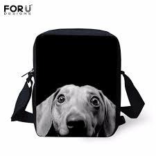 forudesign cute 3d dachshund children shoulder bag dog kids book bag mens cross