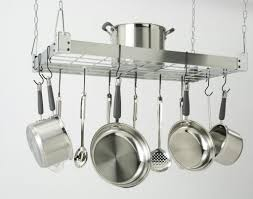 kitchen inspiring hanging appliance storage ideas with pot rack pendant light rooster lighted fixture pots and pans cabinet