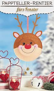 Pappteller Rentier Für Weihnachten Weihnachtszeit Basteln