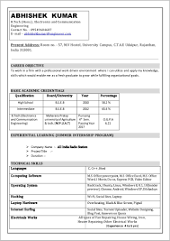 Free Resume Format In Word Download Resume Resume Examples
