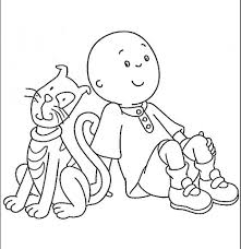 Small Picture Get This Printable Caillou Coloring Pages 9wchd