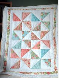 Easy Six Pinwheel Baby Quilt – Quilting Cubby & moda charm pack florals baby quilt Adamdwight.com