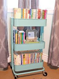 instead of having them in the loft where they will never be read use a small storage trolley to ensure they can be accessed before your child s bedtime