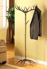 Coat Rack Tree Stand Rustic Coat Hanger Antler Coat Hat Rack Tree Stand Metal Rustic Deer 36