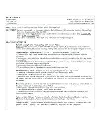 Sample Cv For A Teacher Resume Template For Teaching Position Teaching Resume Template