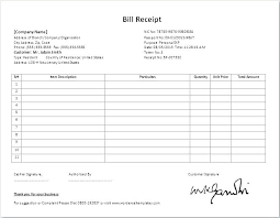 Tuition Bill Template Tuition Receipt Template Best Invoice Format