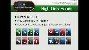 Grinderschool On Pot Limit Omaha Hi Low Starting Hands