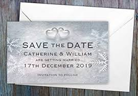 Winter Wedding Save The Date 50 Personalised Save The Date Magnets Snowflakes Winter Wedding