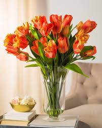 White Dutch Tulip Arrangement Orange Dutch Tulip Arrangement ...
