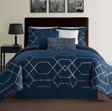 hampton navy blue king size bed 7pc jacquard grey decorate ideas navy bedding sets