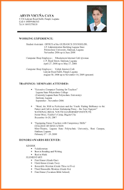 Curriculum Vitae Example For Job Sow Template