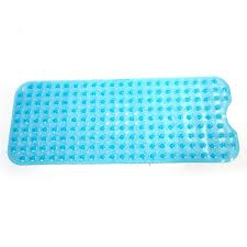 wish extra long non slip bathtub mat for smooth non textured tubs only safe clean anti bacterial machine washable superior grip drainage
