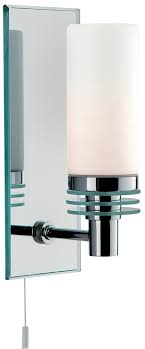 modern chrome bathroom wall light with