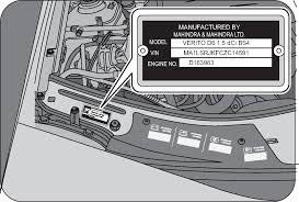 mahindra owners manual vehicle identification number