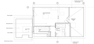 Lower floor plan  click for larger image Roof extension to east london flat  by Poulsom Middlehurst