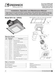 greenheck sp 110l vg and sp 80l vg lighted multi sd ceiling exhaust fan iom manuel d utilisation pages 24