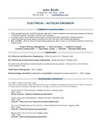 Electrical Engineering Resumes Enchanting Electrical Engineering Resume Samples For Freshers Engineer Template