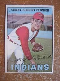 SONNY SIEBERT 1967 TOPPS #95 CLEVELAND INDIANS | eBay