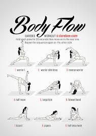 Flow Workout Chart Body Flow Workout