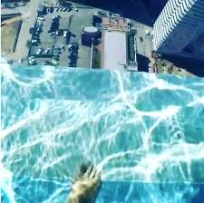 glass bottom pool houston footage shows a brave swimmer walking onto the glass floor image glass