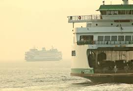 smoky haze envelopes the bremerton ferry walla walla left the boat was arriving in