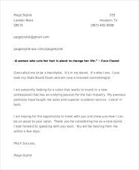 Fabulous Cover Letter Examples For Hairdressers With 8 Hair Stylist