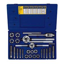 Tap And Die Set Chart High Carbon Steel Metric Tap And Hex Die Master Set 25 Pc