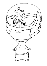 Rey Mysterio Mask Drawing At Getdrawingscom Free For Personal Use