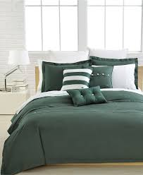 Macy Bedroom Furniture Closeout Lacoste Bedding Solid Green Brushed Twill Comforter And Duvet