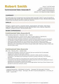 Skills A Sales Associate Should Have Commissioned Sales Associate Resume Samples Qwikresume