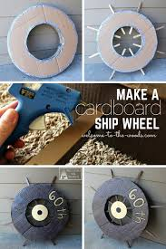 how to construct a cardboard ship wheel out of cardboard included a detailed step by