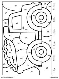Color by number worksheets have numbered shapes. Kindergarten Color By Number Printable Worksheets Myteachingstation Com