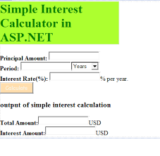 Asp Net 4 Tutorials Simple Interest Calculator In Asp Net C