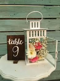 wooden table number with a stand