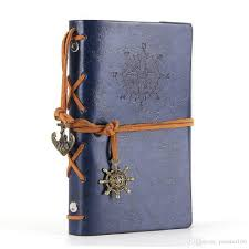 2019 leather writing journal notebook 5 inches retro spiral bound notebook refillable diary sketchbook for girls and boys deep blue from pioneer160