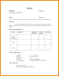 Edit Resume Format
