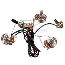 1 set wiring harness prewired 2v1t1j for jb bass guitar 3 electric guitar parts wiring harness 2v1t 500k pots tone 3 way toggle switch new