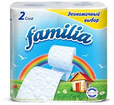 <b>Туалетная бумага Familia Радуга</b> белая двухслойная — купить по ...
