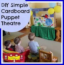 diy simple cardboard box puppet theatre