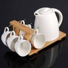 """<b>Набор чайный</b> на деревянной <b>подставке</b> """"Эстет"""", 7 предметов ..."""