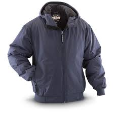 guide gear men s hooded cascade jacket navy
