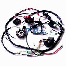buggy wiring harness loom gy6 engine 150cc quad atv electric start stator 8 coil go kart