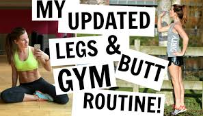 MY GYM ROUTINE LEGS BUTT UPDATED YouTube