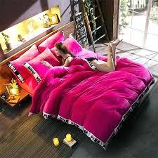 pink velvet comforter red secret warm tower style embroidery bedding set 6 hot