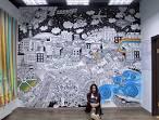 Графическая роспись на стенах