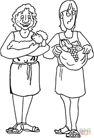 Small Picture Cain and Abel coloring page Free Printable Coloring Pages