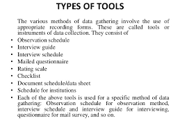 Types Of Data Collection Tools