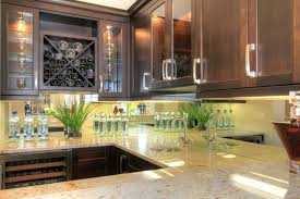 mirror glass backsplash